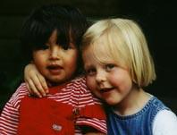 My daughter and nephew 2003